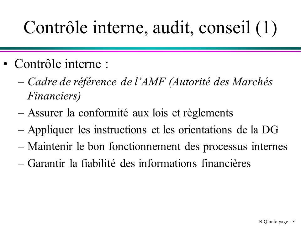 Contrôle interne, audit, conseil (1)