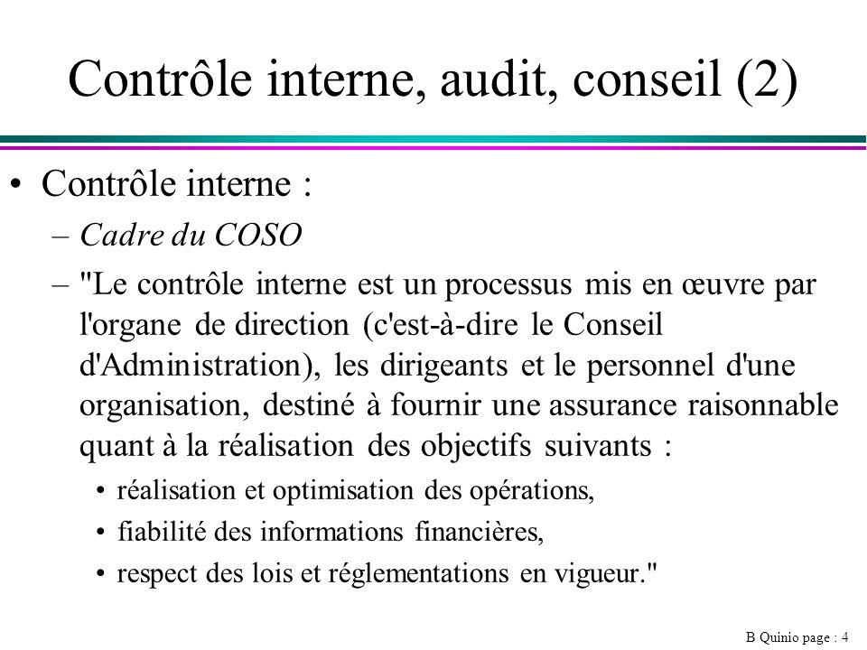 Contrôle interne, audit, conseil (2)