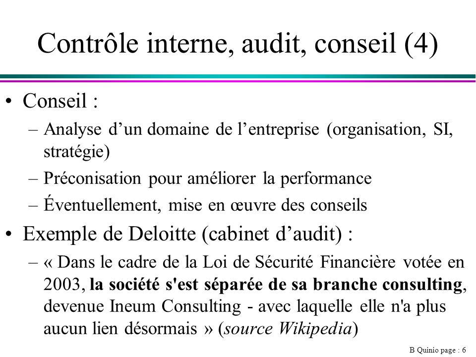 Contrôle interne, audit, conseil (4)