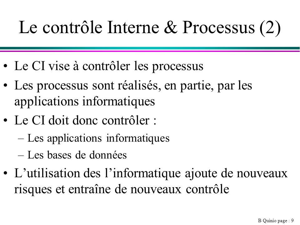 Le contrôle Interne & Processus (2)