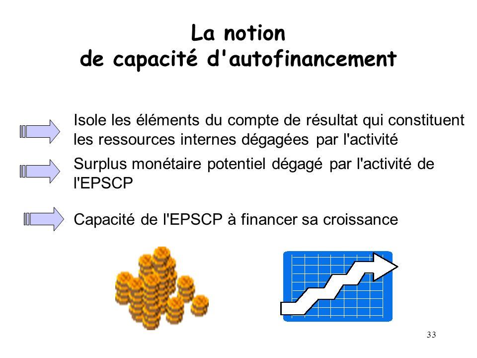 La notion de capacité d autofinancement