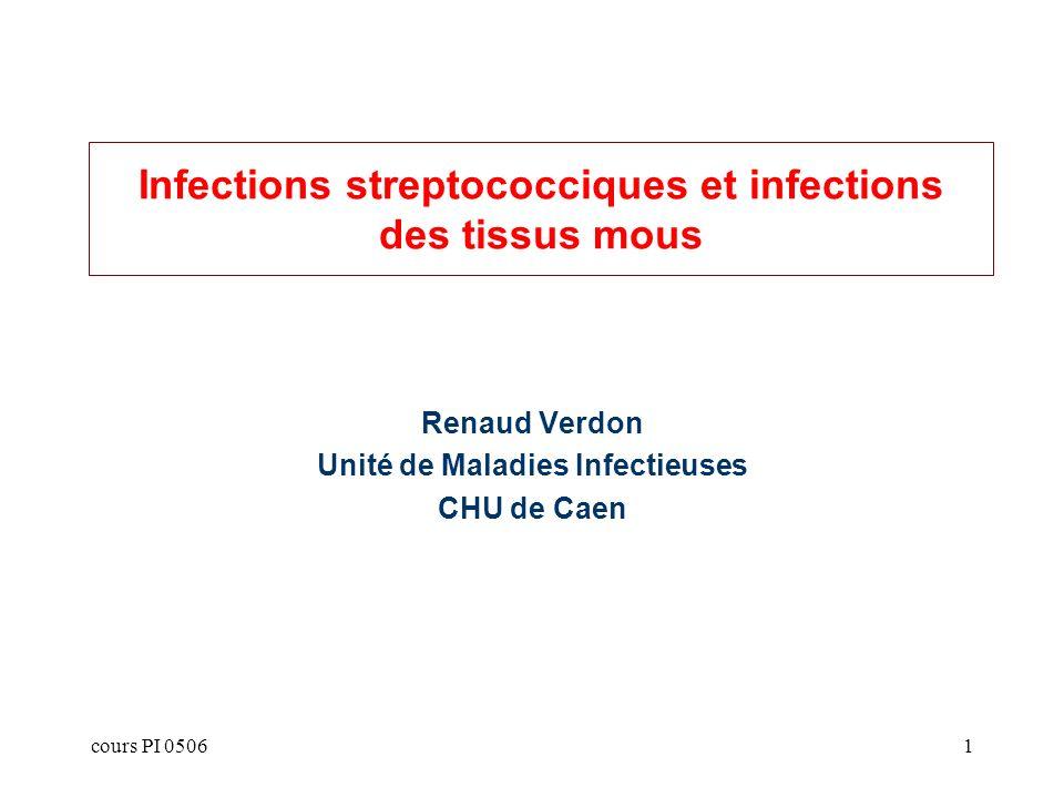 Infections streptococciques et infections des tissus mous