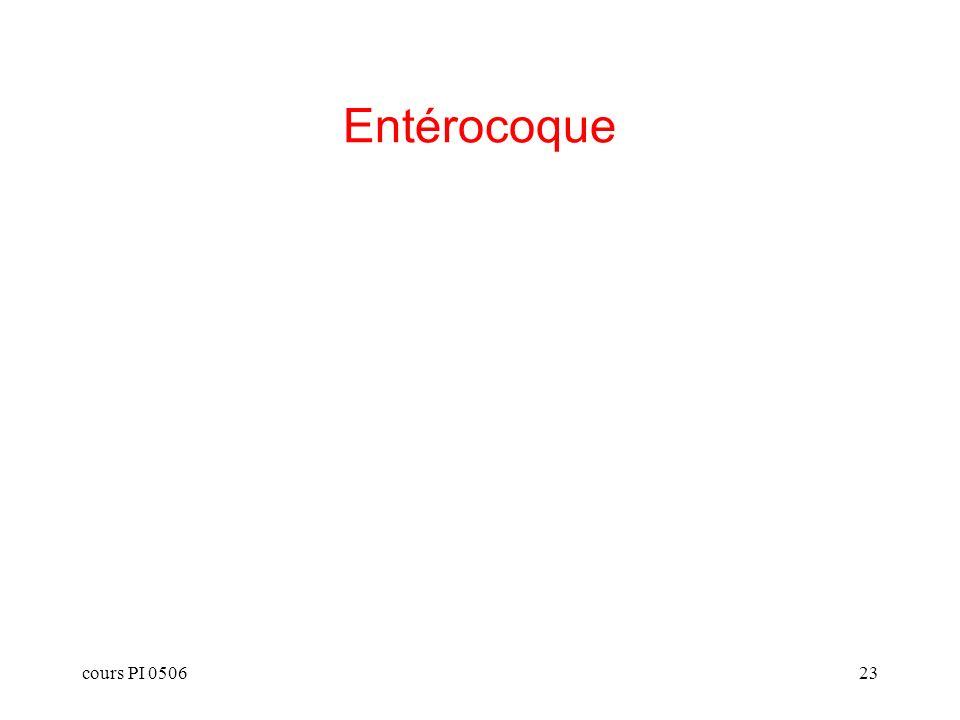 Entérocoque cours PI 0506