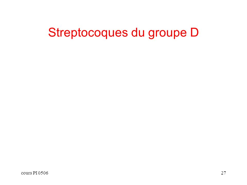 Streptocoques du groupe D