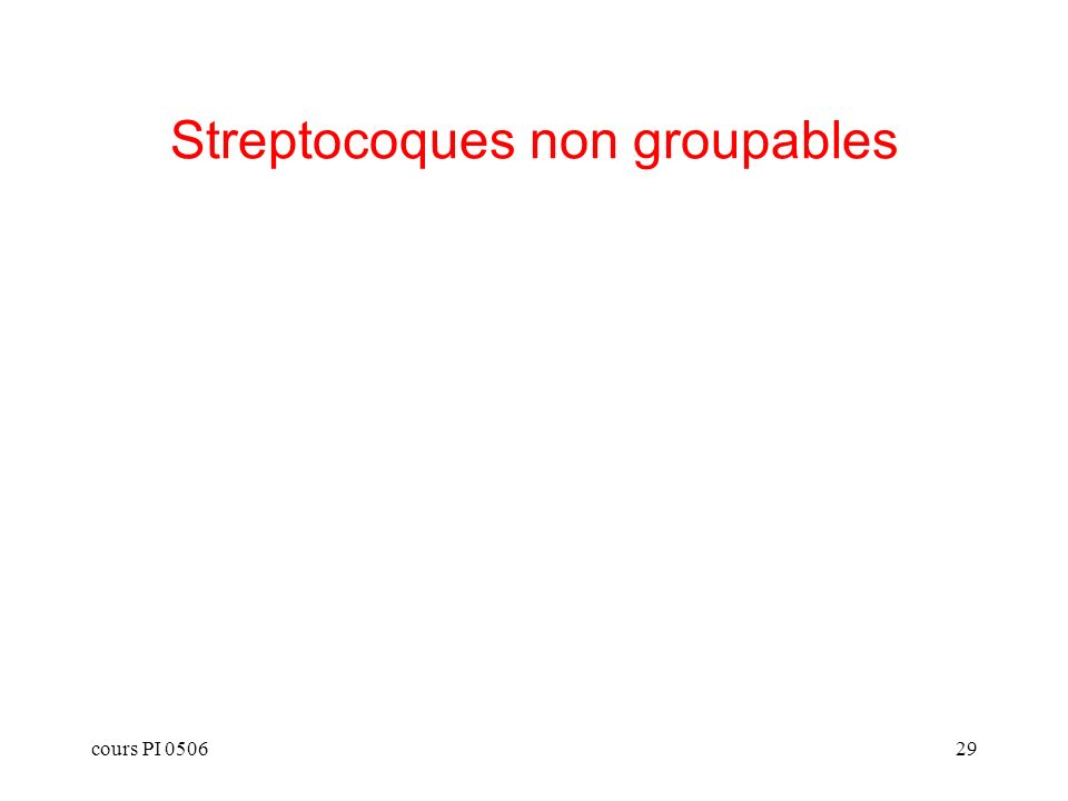Streptocoques non groupables