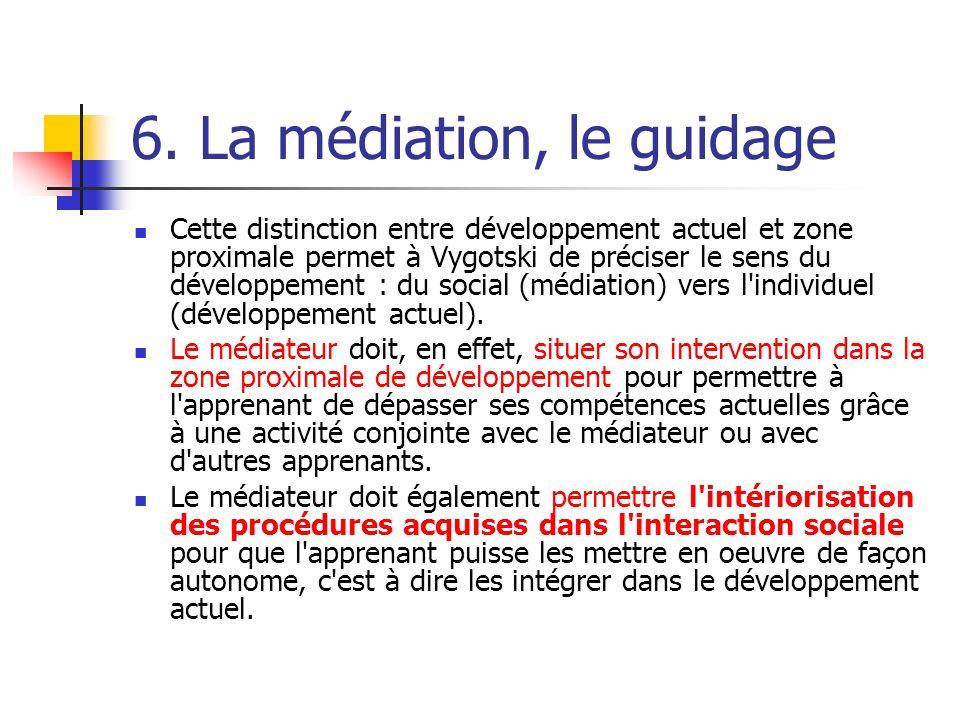 6. La médiation, le guidage