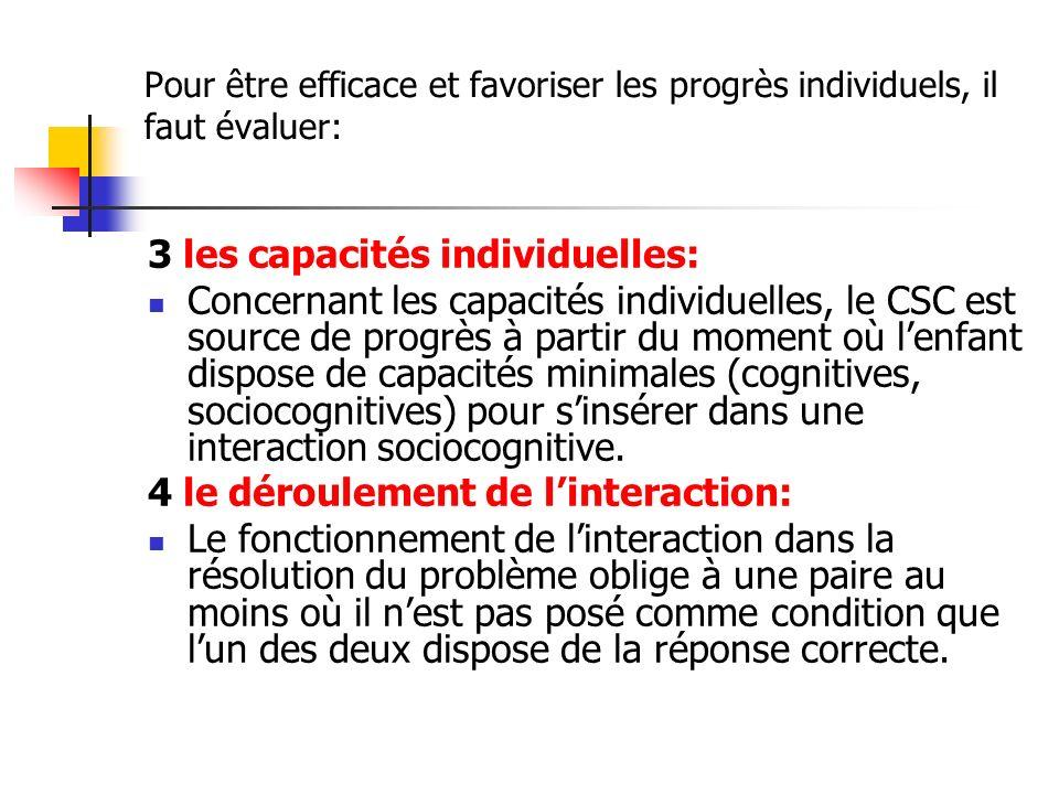 3 les capacités individuelles: