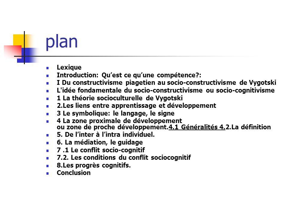 plan Lexique Introduction: Qu'est ce qu'une compétence :