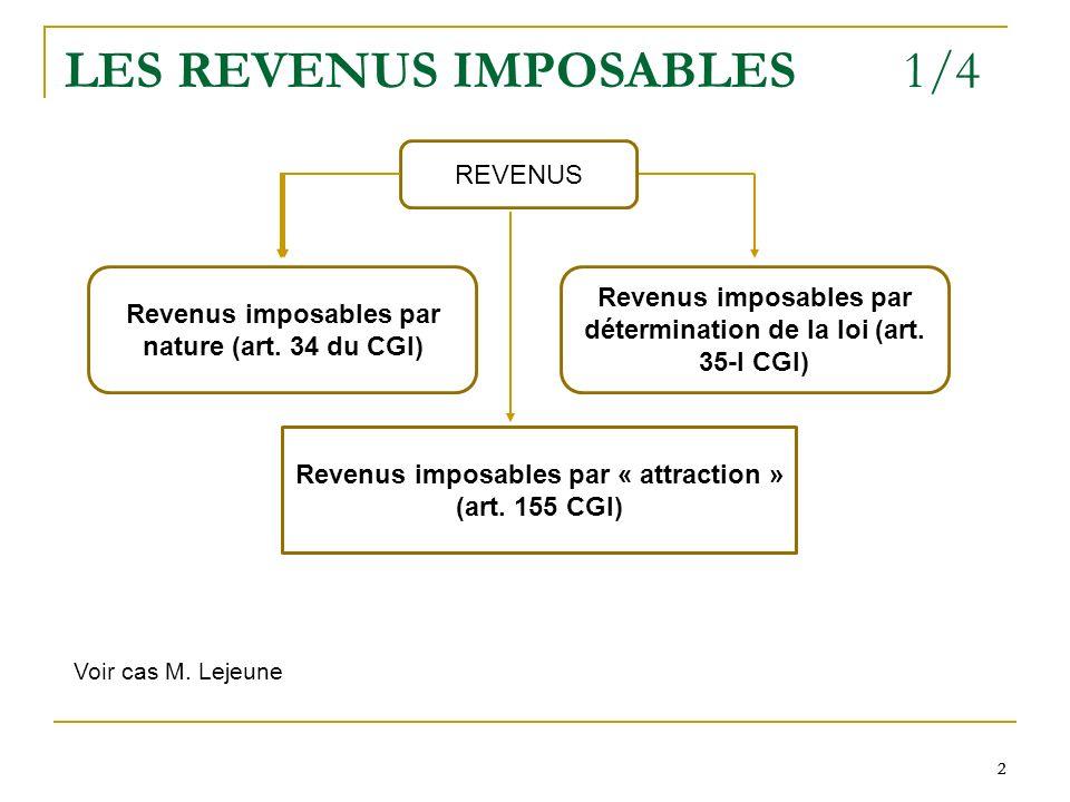 LES REVENUS IMPOSABLES 1/4