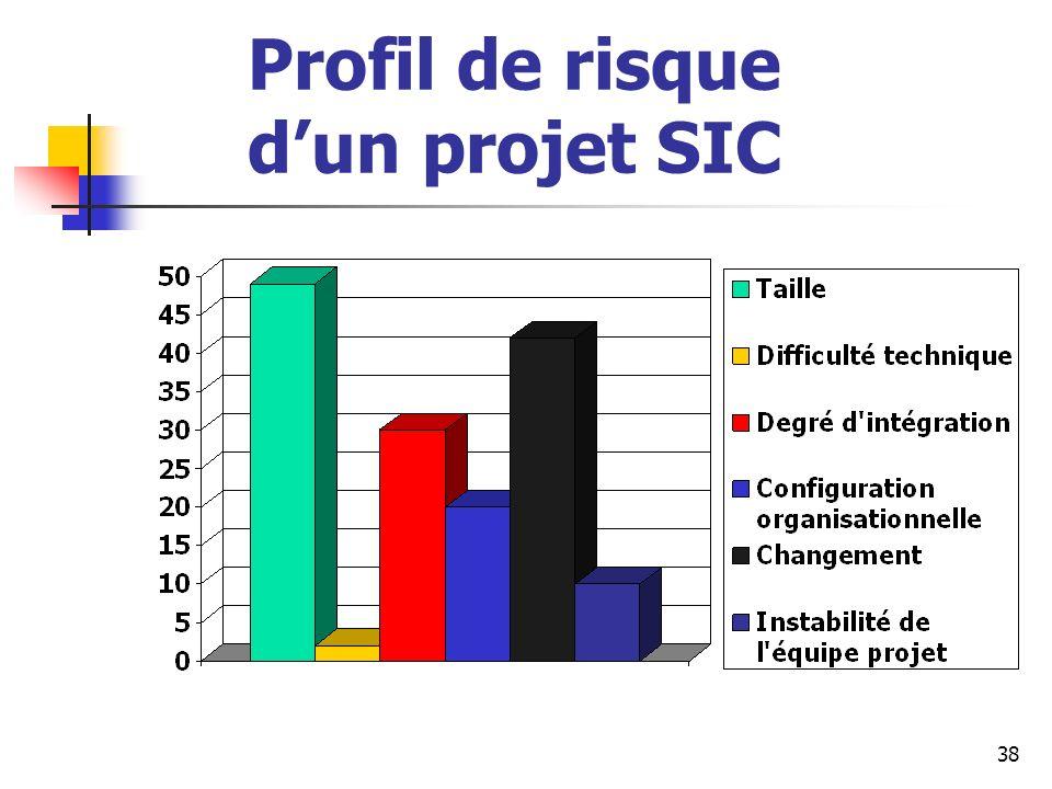 Profil de risque d'un projet SIC