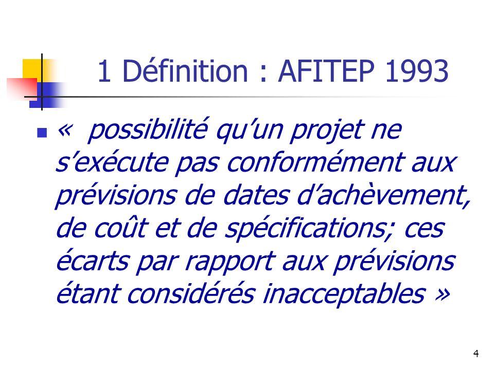 1 Définition : AFITEP 1993