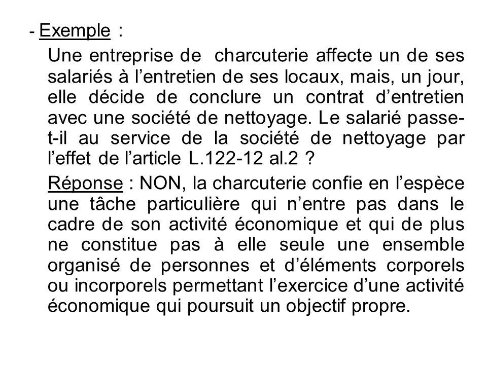 - Exemple :