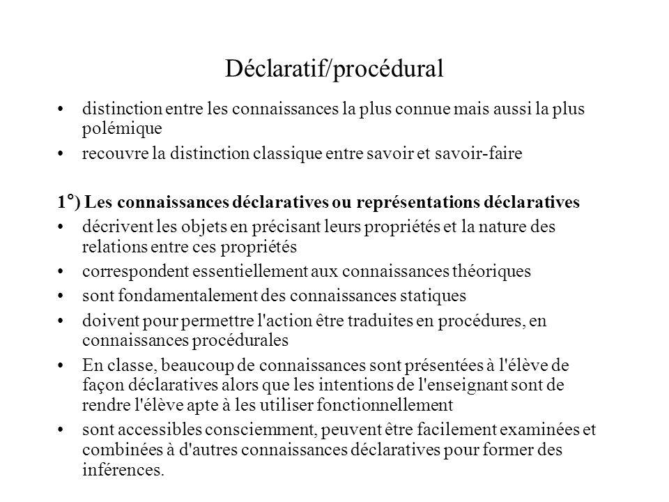 Déclaratif/procédural