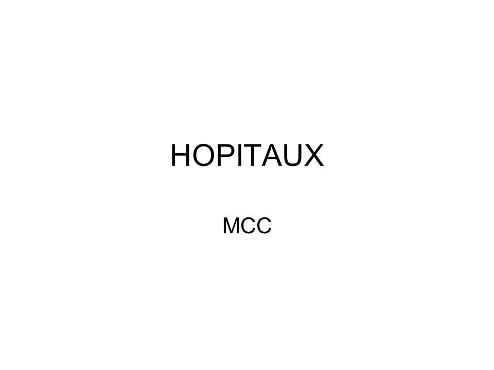 HOPITAUX MCC