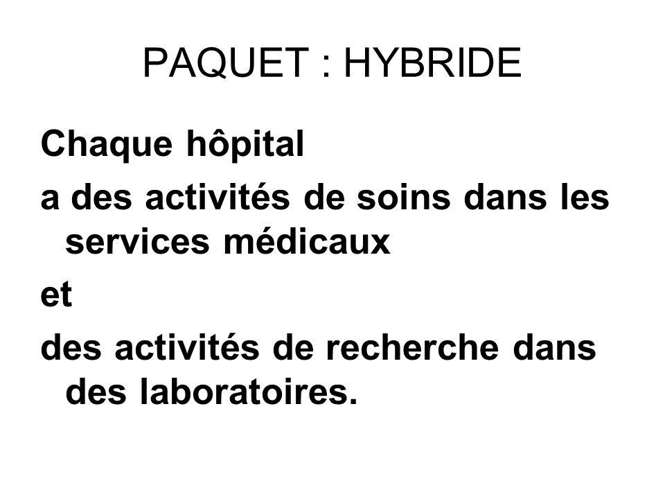 PAQUET : HYBRIDE Chaque hôpital