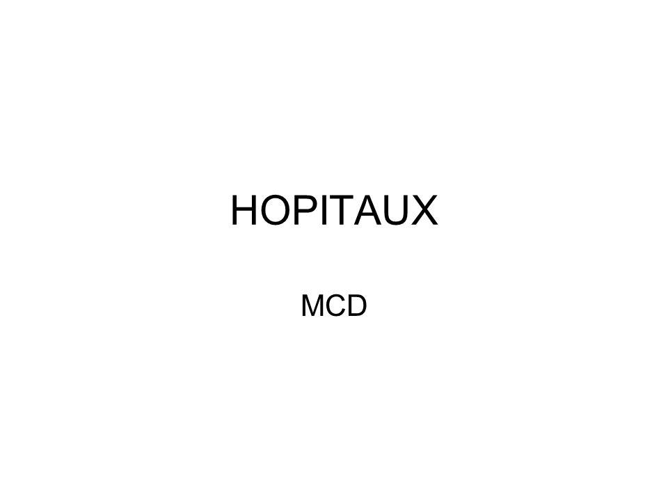 HOPITAUX MCD