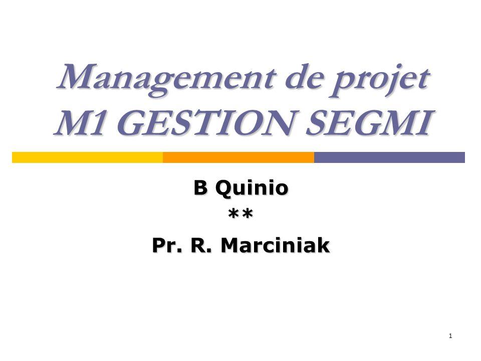 Management de projet M1 GESTION SEGMI