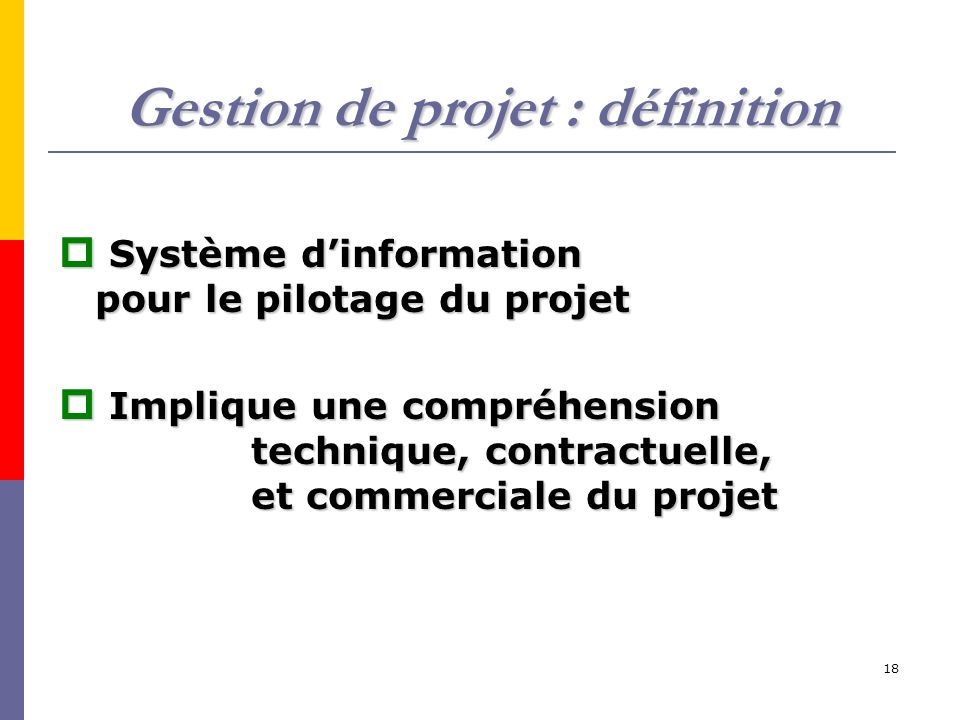 Gestion de projet : définition