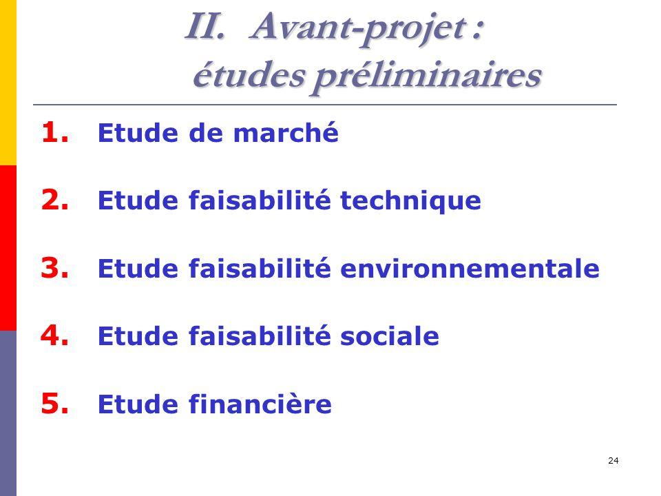 Avant-projet : études préliminaires