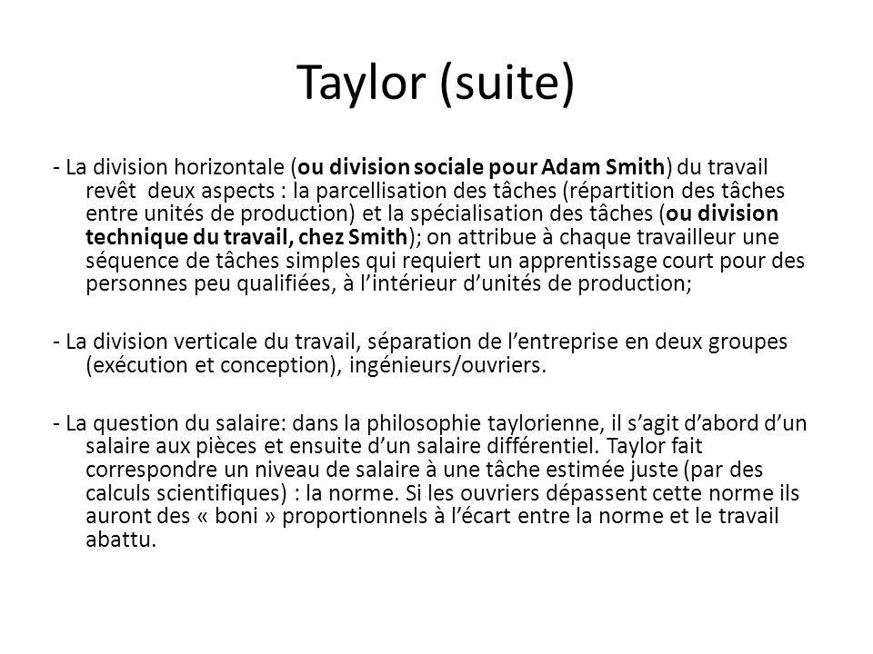 Taylor (suite)