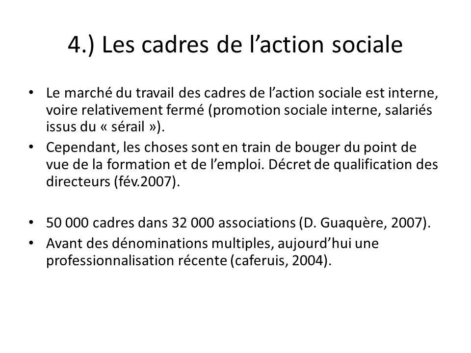 4.) Les cadres de l'action sociale