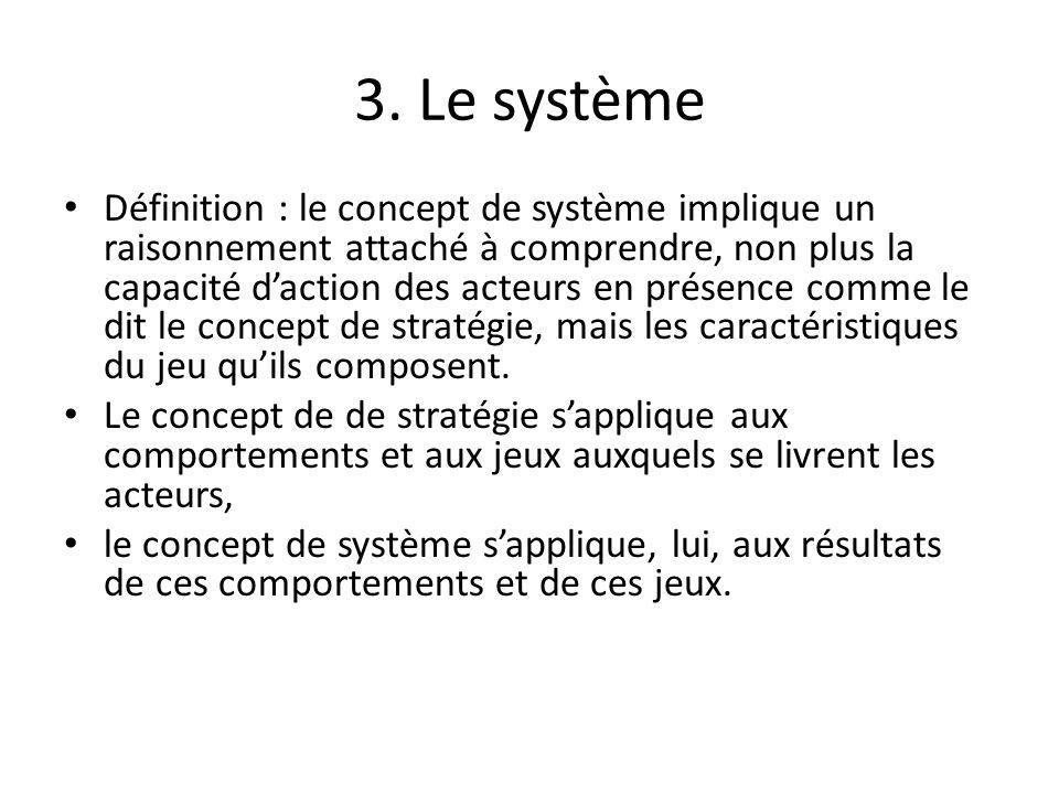 3. Le système