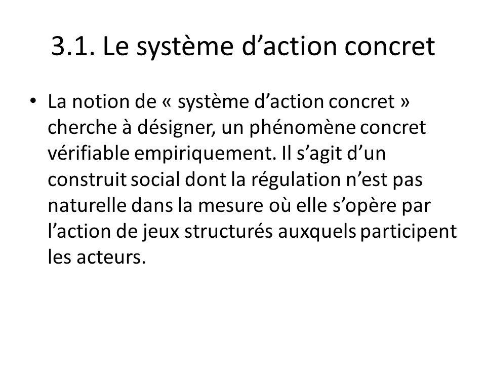 3.1. Le système d'action concret
