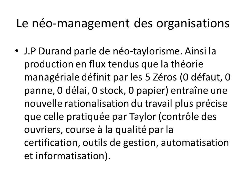 Le néo-management des organisations