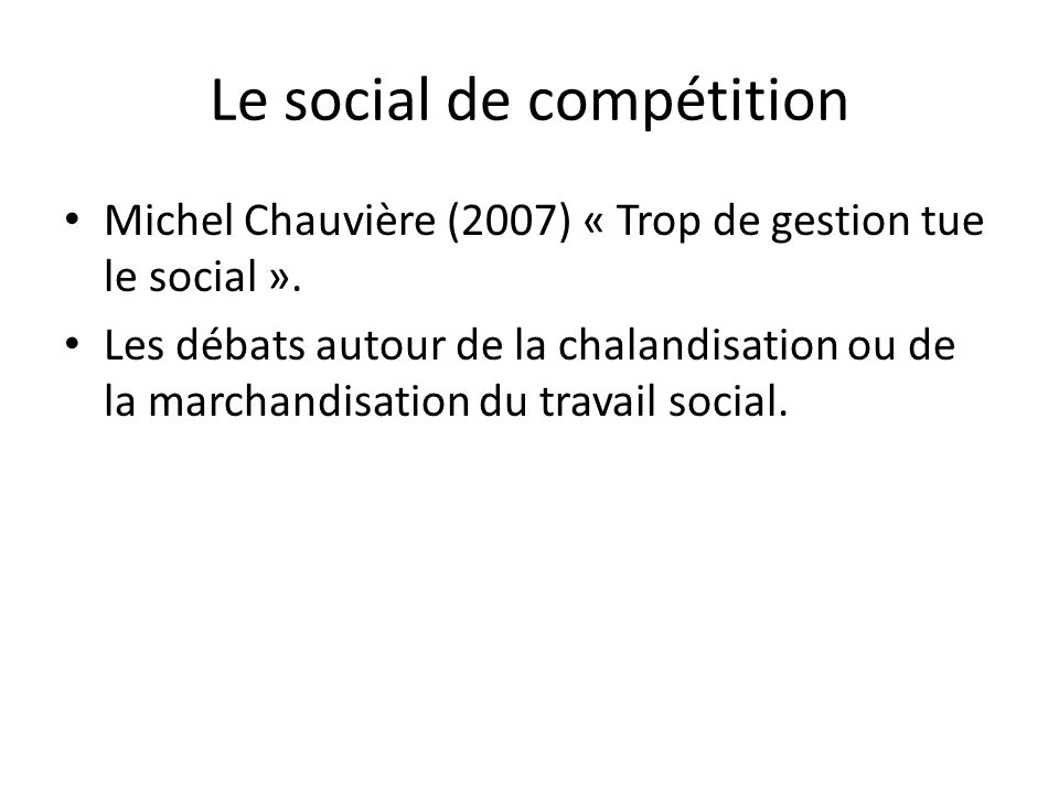 Le social de compétition