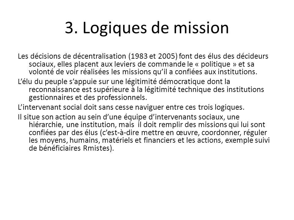 3. Logiques de mission