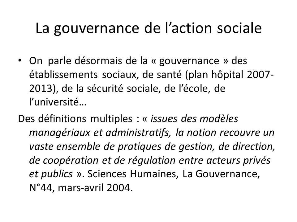 La gouvernance de l'action sociale