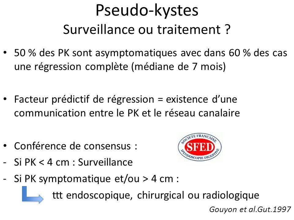 Pseudo-kystes Surveillance ou traitement
