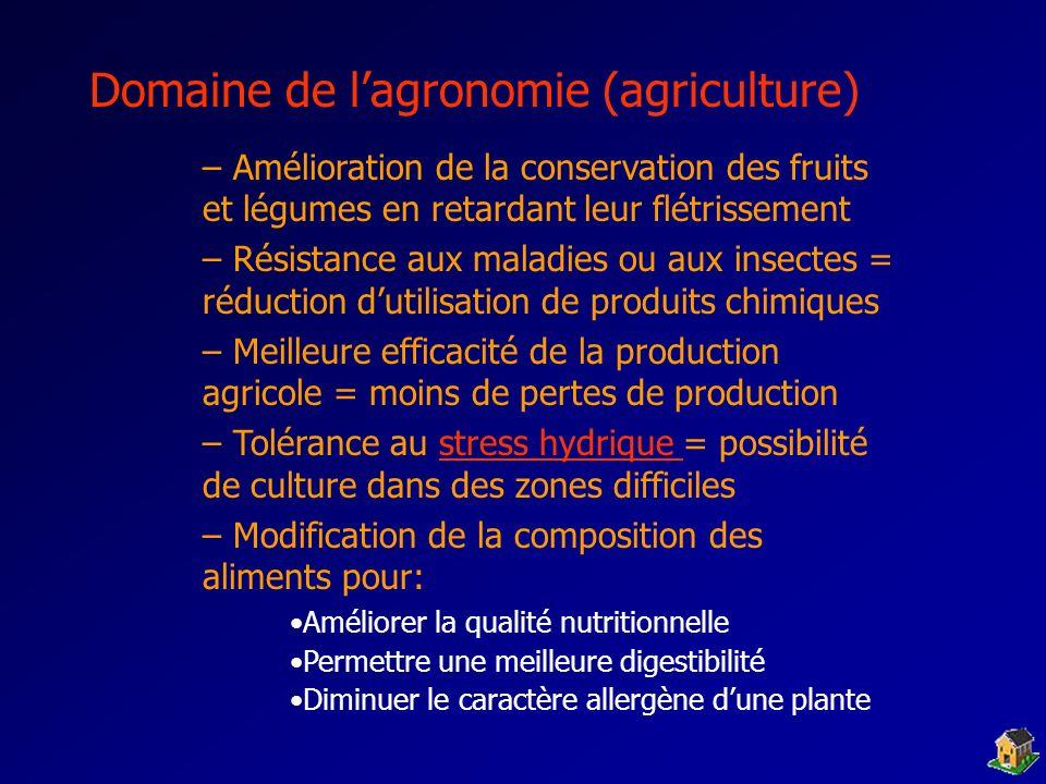 Domaine de l'agronomie (agriculture)