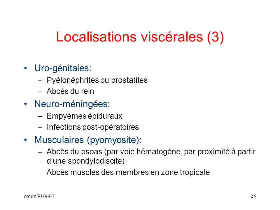 Localisations viscérales (3)