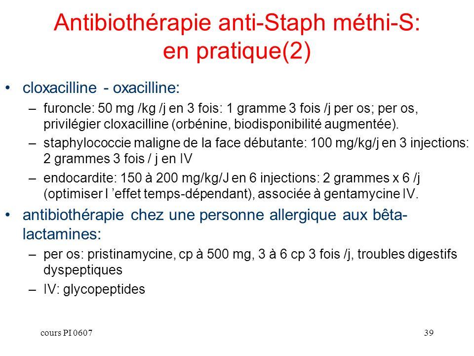 Antibiothérapie anti-Staph méthi-S: en pratique(2)