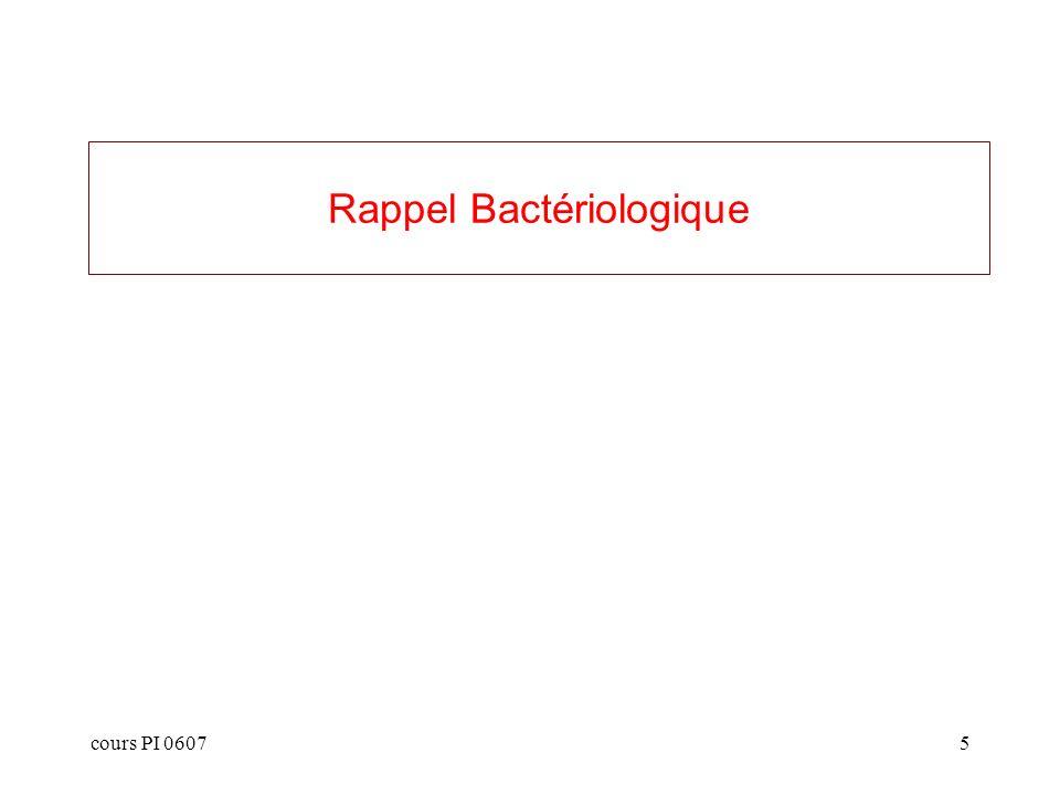 Rappel Bactériologique