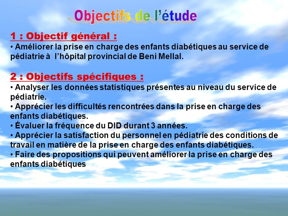2 : Objectifs spécifiques :