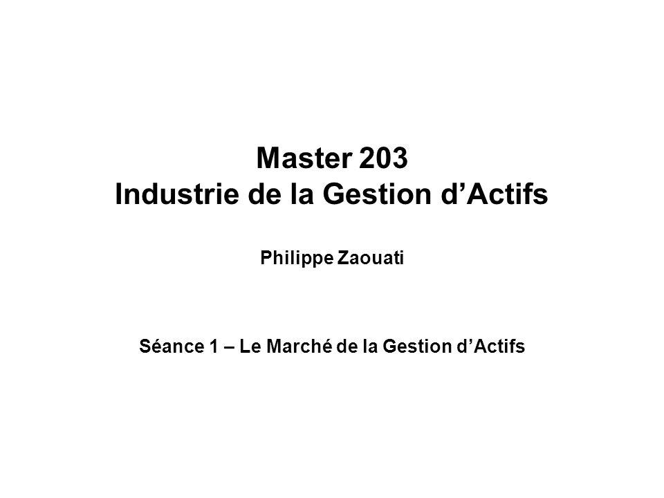 Master 203 Industrie de la Gestion d'Actifs