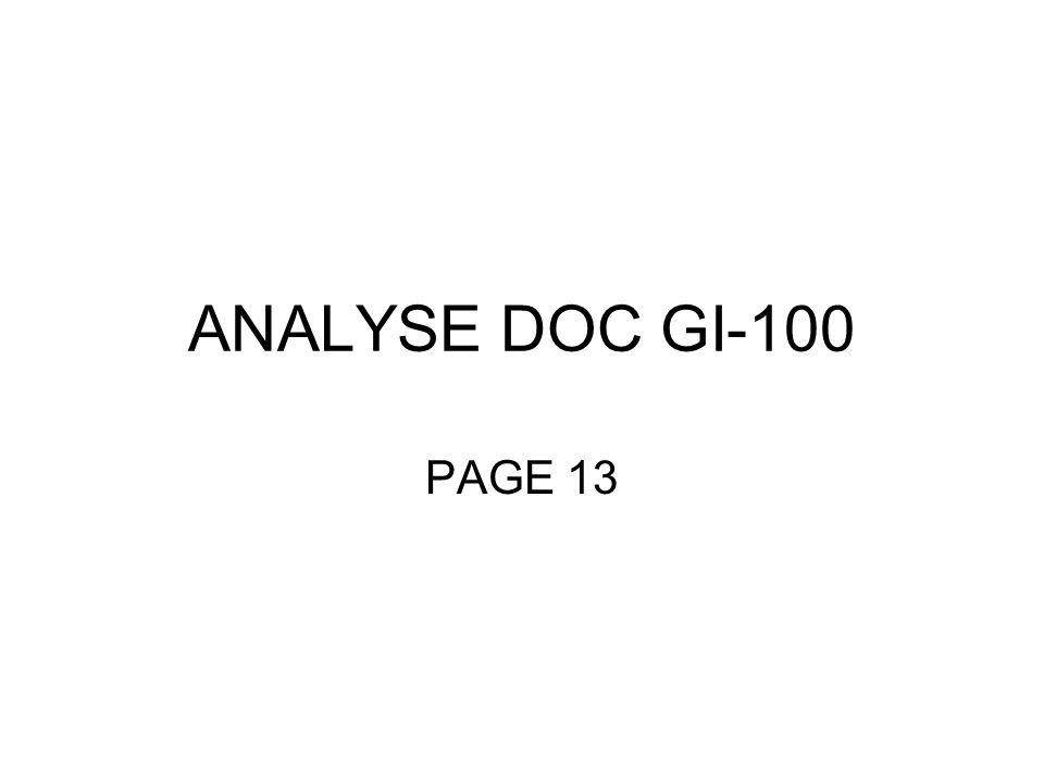 ANALYSE DOC GI-100 PAGE 13
