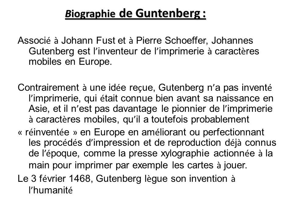 Biographie de Guntenberg :