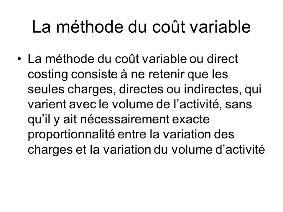 La méthode du coût variable