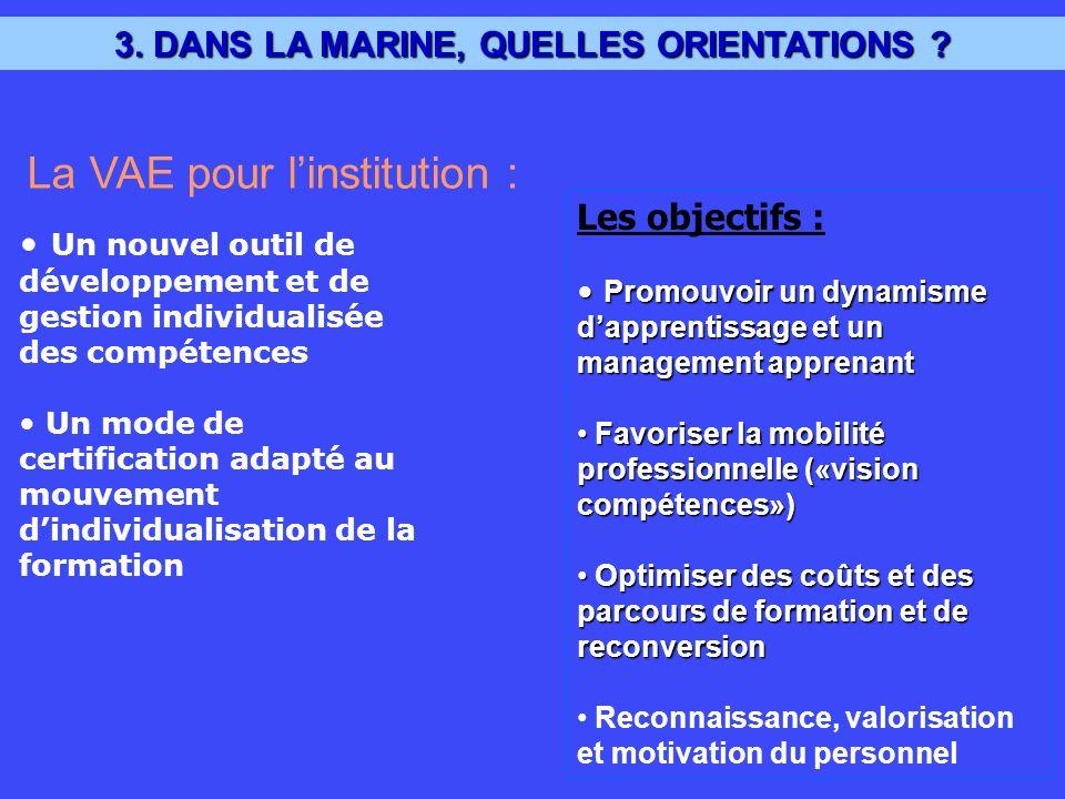 3. DANS LA MARINE, QUELLES ORIENTATIONS