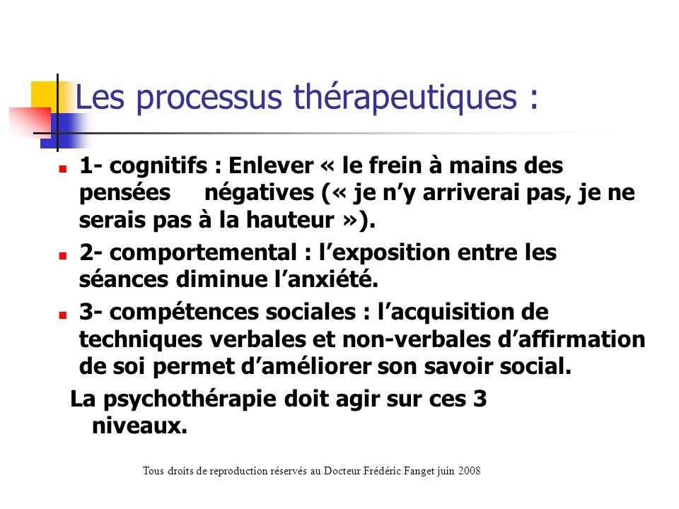 Les processus thérapeutiques :
