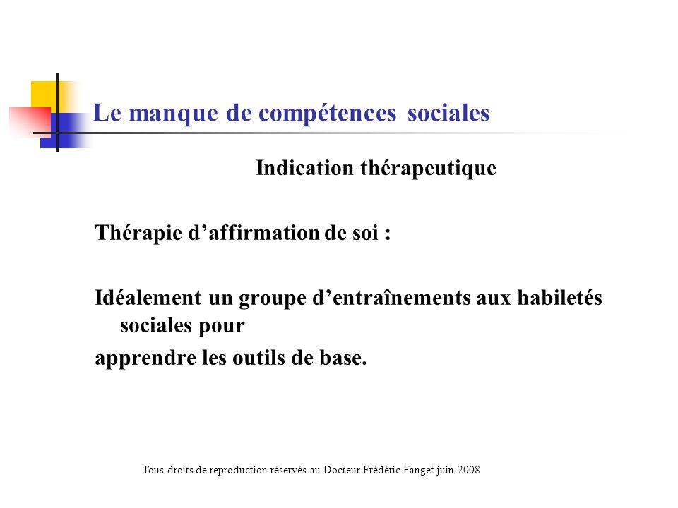 Le manque de compétences sociales