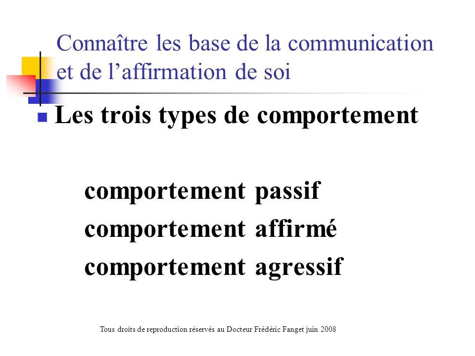 Connaître les base de la communication et de l'affirmation de soi