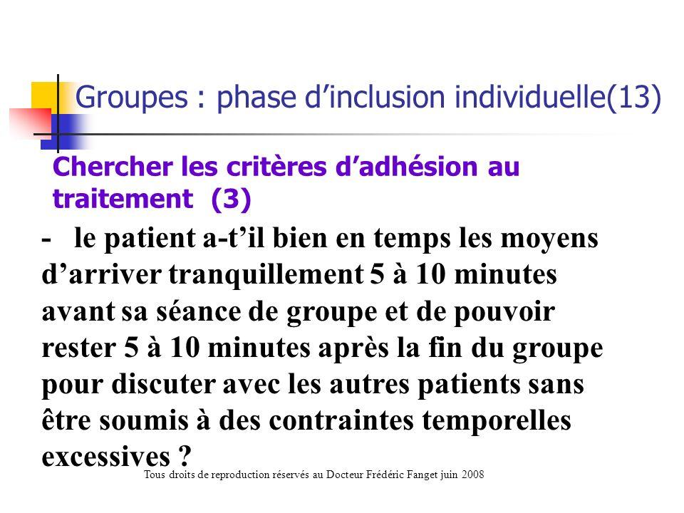Chercher les critères d'adhésion au traitement (3)
