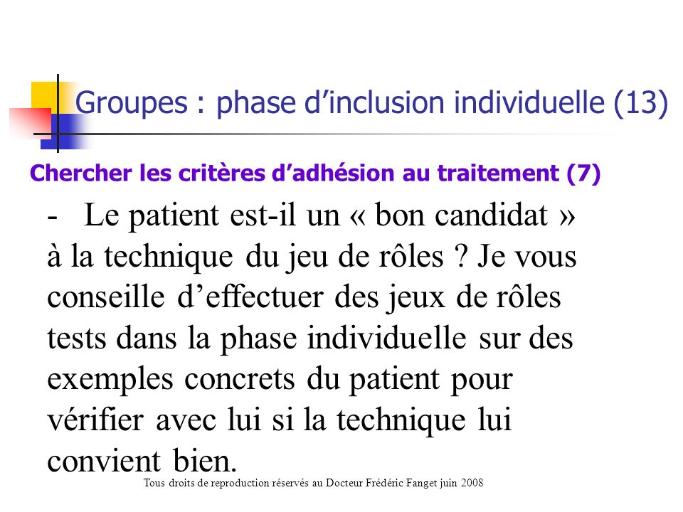 Chercher les critères d'adhésion au traitement (7)