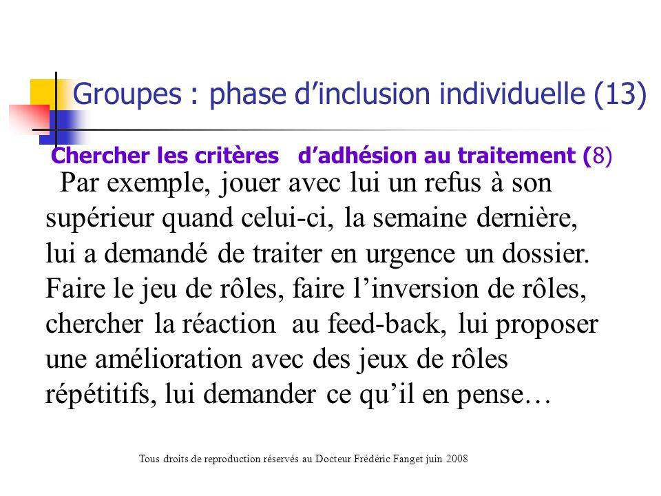 Chercher les critères d'adhésion au traitement (8)