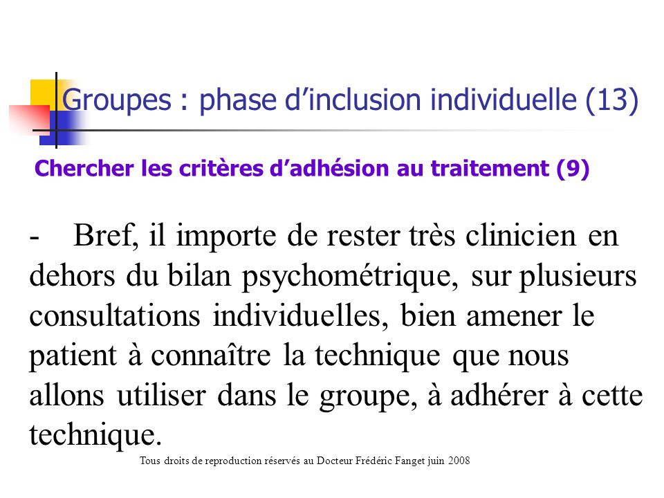 Chercher les critères d'adhésion au traitement (9)