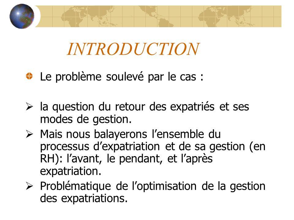 INTRODUCTION Le problème soulevé par le cas :